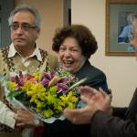 Lygia Corrêa é presenteada durante homenagem